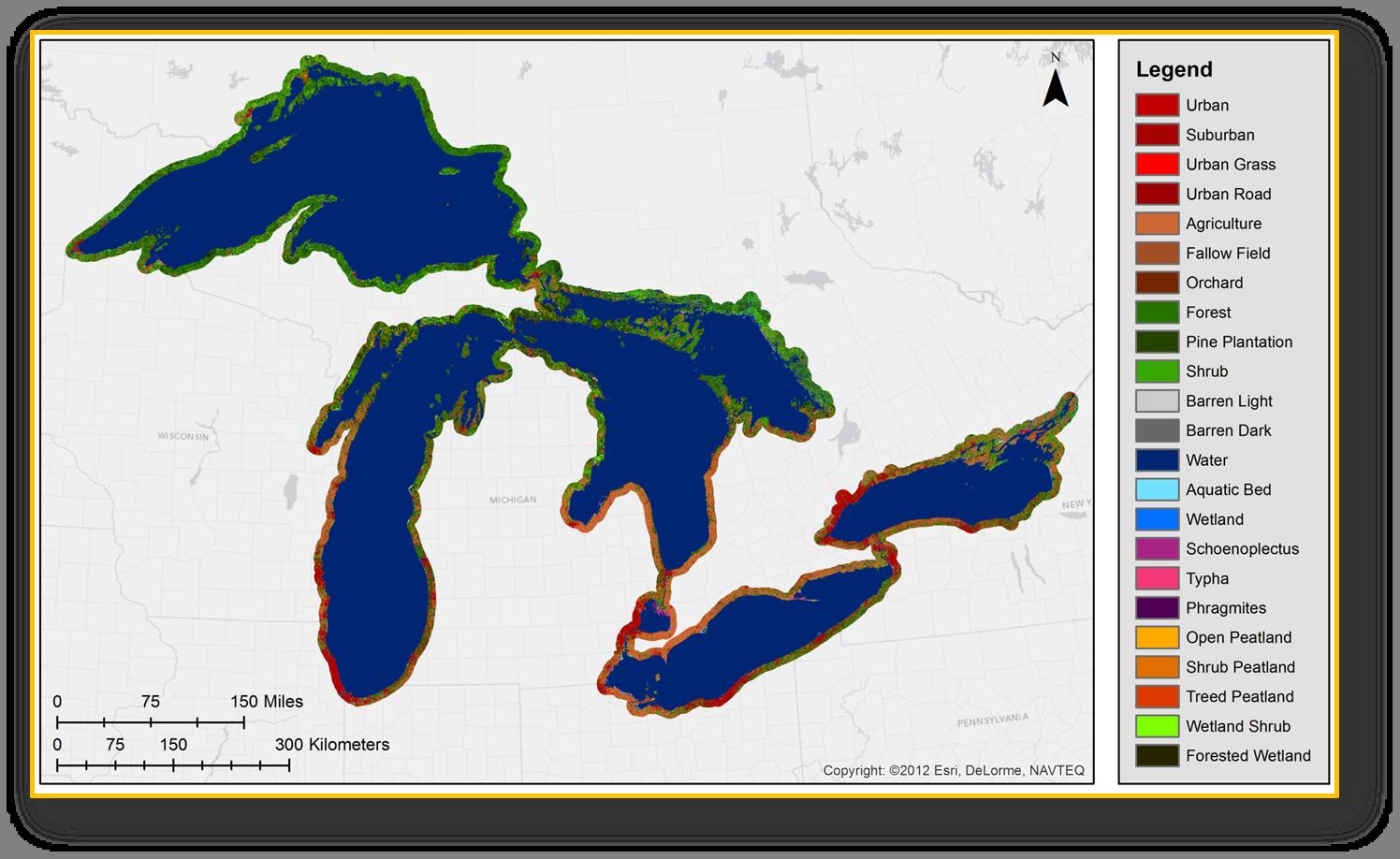 Great Lakes Coastal Wetland Mapping - Coastal wetlands map us