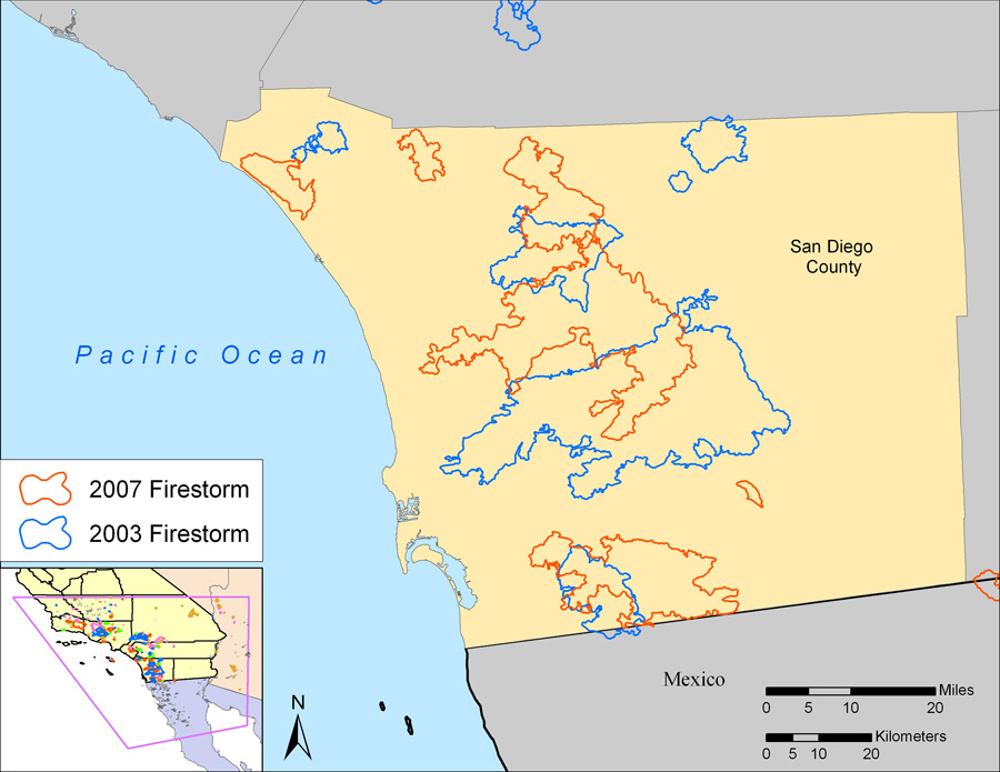 San Diego Fire Map Today.Respiratory Health Impacts Of Wildfire